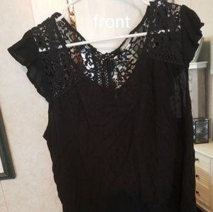 Tops - Sexy black blouse